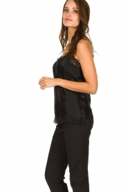 Gold hawk | Silk top Elin | black  | Picture 3