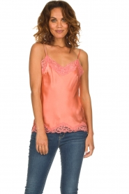 Gold hawk | Silk top Elin | pink  | Picture 2