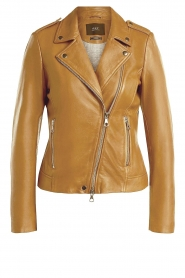 Set |  Leather biker jacket Tyler | brown  | Picture 1