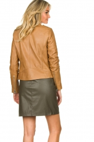 Set |  Leather biker jacket Tyler | brown  | Picture 6