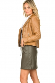 Set |  Leather biker jacket Tyler | brown  | Picture 5