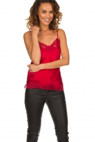 Gold hawk |  Silk top Elin | red  | Picture 2