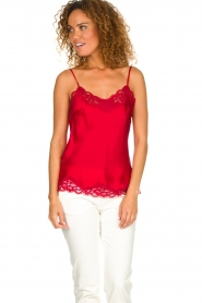 Gold hawk |  Silk top Elin | red  | Picture 3