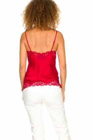 Gold hawk |  Silk top Elin | red  | Picture 5