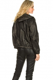 Set |  Leather bomber jacket with hoodie Bingo | black  | Picture 6
