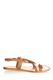Laidback London | Leather flip-flops Fay | camel  | Picture 2