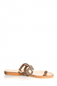 Laidback London | Leather flip-flops Jade | silver  | Picture 2