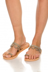 Laidback London | Leather flip-flops Jade | silver  | Picture 7