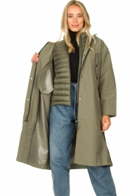 Set |  Long parka Mila | green  | Picture 7