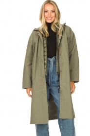 Set |  Long parka Mila | green  | Picture 2