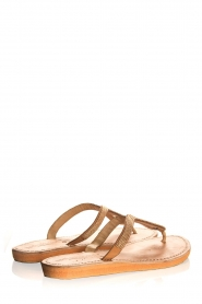 Laidback London | Leather sandals Ivy | gold  | Picture 5