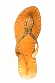 Laidback London | Leather sandals Ivy | gold  | Picture 6