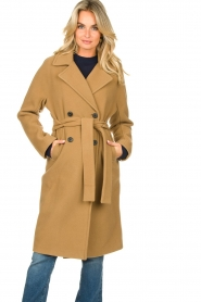 Set |  Wrap coat Manhattan | camel  | Picture 5