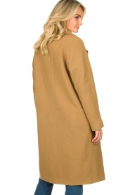 Set |  Wrap coat Manhattan | camel  | Picture 7
