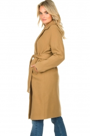 Set |  Wrap coat Manhattan | camel  | Picture 6
