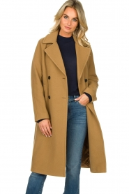 Set |  Wrap coat Manhattan | camel  | Picture 4