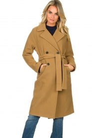 Set |  Wrap coat Manhattan | camel  | Picture 2