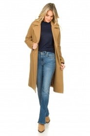 Set |  Wrap coat Manhattan | camel  | Picture 3