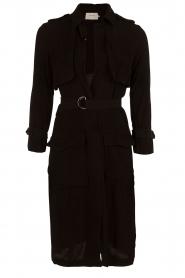 Munthe | Trenchcoat Eclair | zwart   | Afbeelding 1