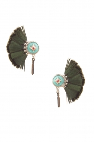 Hipanema |  Earrings Meline | green  | Picture 1