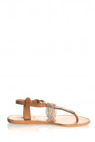 Laidback London : Leather sandals Tess | silver - img5