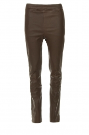 Arma |  Leather pants Chatou | brown  | Picture 1