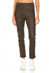 Arma |  Leather pants Chatou | brown  | Picture 4