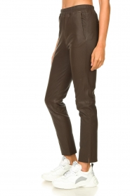 Arma |  Leather pants Chatou | brown  | Picture 5