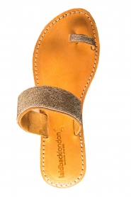 Laidback London | Leather sandals Kate | silver  | Picture 6