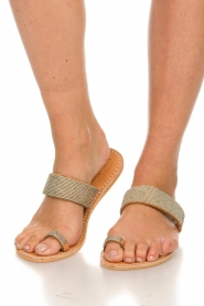 Laidback London | Leather flip-flops Kate | silver  | Picture 2