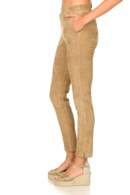Arma :  Suede pants Chatou | beige - img6