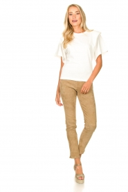 Arma :  Suede pants Chatou | beige - img3