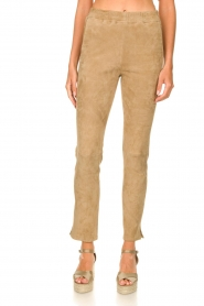 Arma :  Suede pants Chatou | beige - img4