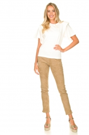 Arma :  Suede pants Chatou | beige - img2