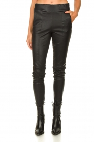 Arma :  Lamb leather stretch pants Saint | black - img5