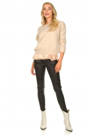 Arma :  Lamb leather stretch pants Saint | black - img2