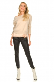 Arma :  Lamb leather stretch pants Saint | black - img3
