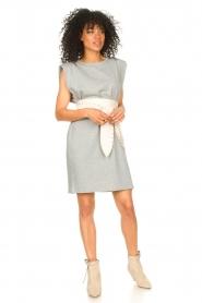 Set |  Sleeveless cotton dress Gia | grey  | Picture 3