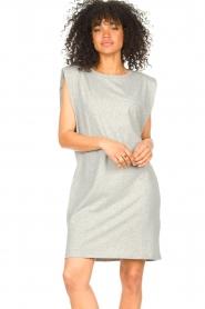 Set |  Sleeveless cotton dress Gia | grey  | Picture 4