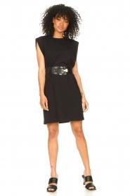 Set | Mouwloze katoenen jurk Gia | zwart  | Afbeelding 3