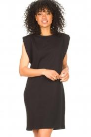 Set | Mouwloze katoenen jurk Gia | zwart  | Afbeelding 6