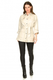STUDIO AR BY ARMA   Leather blouse jacket Axelle   beige    Picture 4
