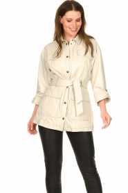 STUDIO AR BY ARMA   Leather blouse jacket Axelle   beige    Picture 2