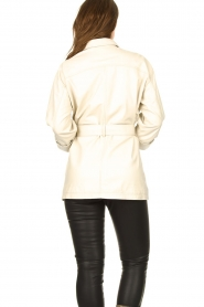 STUDIO AR BY ARMA   Leather blouse jacket Axelle   beige    Picture 6