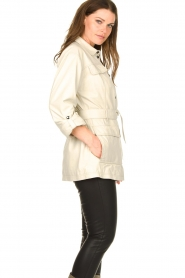 STUDIO AR BY ARMA   Leather blouse jacket Axelle   beige    Picture 5