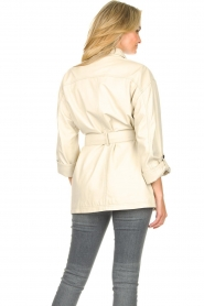 STUDIO AR BY ARMA | Leather blouse jacket Axelle | beige  | Picture 7