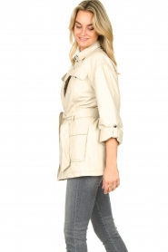 STUDIO AR BY ARMA | Leather blouse jacket Axelle | beige  | Picture 6