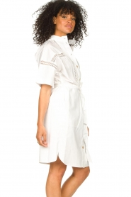 Set |  Broderie dress with matching waistbelt Mia | white  | Picture 7