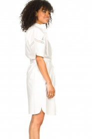 Set |  Broderie dress with matching waistbelt Mia | white  | Picture 8