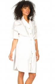 Set |  Broderie dress with matching waistbelt Mia | white  | Picture 6